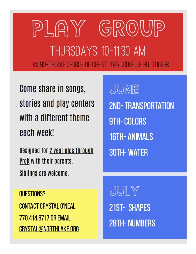 Play Day Flyer 2016 Summer