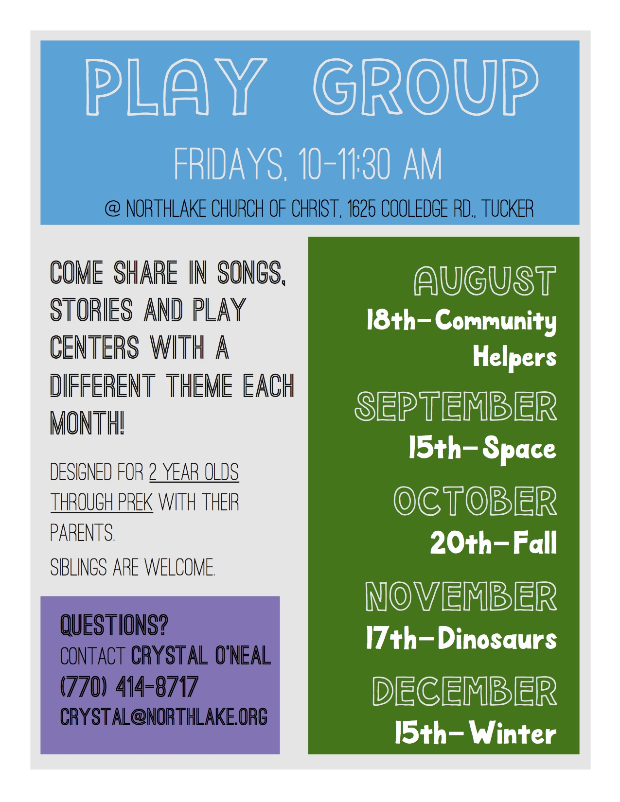 Play Day Flyer 2017 Aug.-Dec.